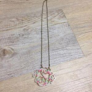 Jewelry - Acrylic monogram necklace